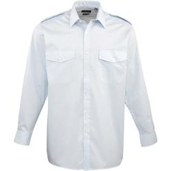 vaatteet Miehet Pitkähihainen paitapusero Premier PR210 Light Blue