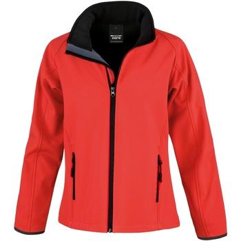vaatteet Miehet Fleecet Result R231M Red / Black
