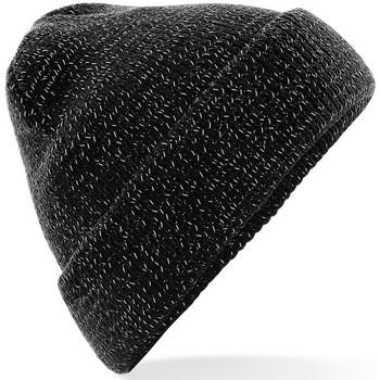 Asusteet / tarvikkeet Pipot Beechfield Reflective Black