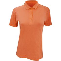 vaatteet Naiset Lyhythihainen poolopaita Anvil 6280L Mandarin Orange