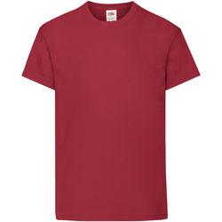 vaatteet Lapset Lyhythihainen t-paita Fruit Of The Loom 61019 Brick Red