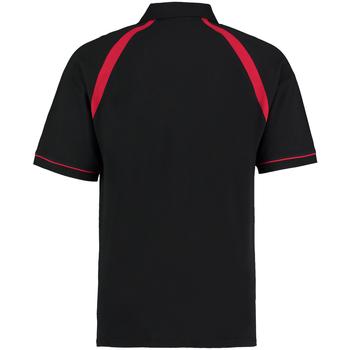 vaatteet Miehet Lyhythihainen poolopaita Kustom Kit KK615 Black/Bright Red