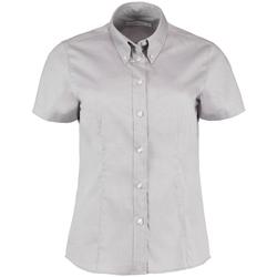 vaatteet Naiset Paitapusero / Kauluspaita Kustom Kit KK701 Silver Grey