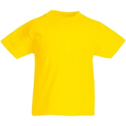 vaatteet Lapset Lyhythihainen t-paita Fruit Of The Loom 61019 Yellow
