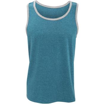vaatteet Miehet Hihattomat paidat / Hihattomat t-paidat Anvil 986 Caribbean Blue/ Heather Grey