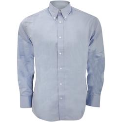 vaatteet Miehet Pitkähihainen paitapusero Kustom Kit KK188 Light Blue