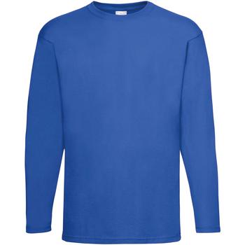 vaatteet Miehet T-paidat pitkillä hihoilla Universal Textiles 61038 Cobalt