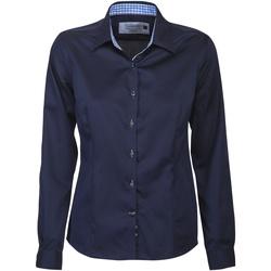 vaatteet Naiset Paitapusero / Kauluspaita J Harvest & Frost JF006 Navy/ Sky Blue