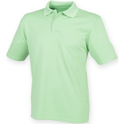 vaatteet Miehet Lyhythihainen poolopaita Henbury HB475 Lime Green