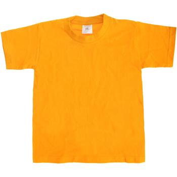 vaatteet Lapset Lyhythihainen t-paita B And C TK301 Gold