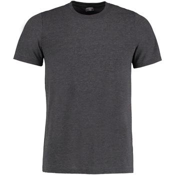 vaatteet Miehet Lyhythihainen t-paita Kustom Kit KK504 Dark Grey Marl