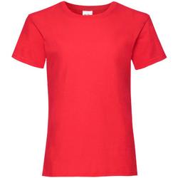 vaatteet Tytöt Lyhythihainen t-paita Fruit Of The Loom 61005 Red