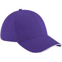 Asusteet / tarvikkeet Lippalakit Beechfield B20 Purple/White