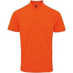 vaatteet Miehet Lyhythihainen poolopaita Premier PR630 Orange