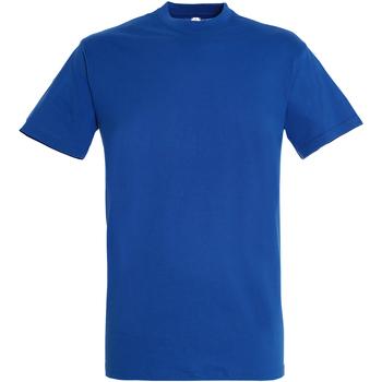 vaatteet Miehet Lyhythihainen t-paita Sols 11380 Royal Blue