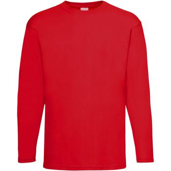 vaatteet Miehet T-paidat pitkillä hihoilla Universal Textiles 61038 Bright Red