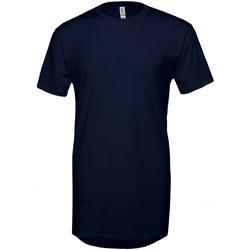 vaatteet Miehet Lyhythihainen t-paita Bella + Canvas Long Body Navy