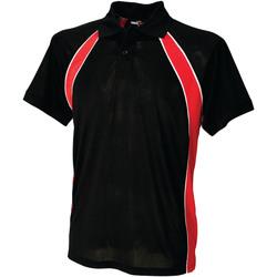 vaatteet Miehet Lyhythihainen poolopaita Finden & Hales LV350 Black/Red/White