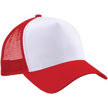 Asusteet / tarvikkeet Miehet Lippalakit Beechfield B640 Classic Red/White