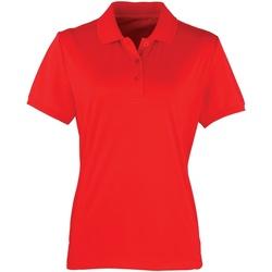 vaatteet Naiset Lyhythihainen poolopaita Premier PR616 Strawberry Red