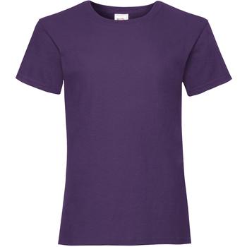 vaatteet Tytöt Lyhythihainen t-paita Fruit Of The Loom Valueweight Purple