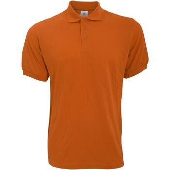 vaatteet Miehet Lyhythihainen poolopaita B And C PU409 Pumpkin Orange