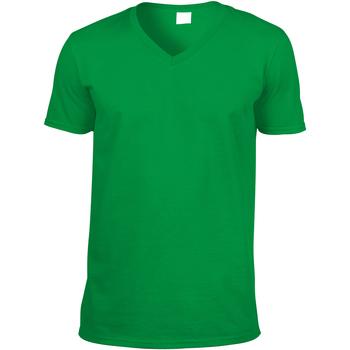 vaatteet Miehet Lyhythihainen t-paita Gildan 64V00 Irish Green