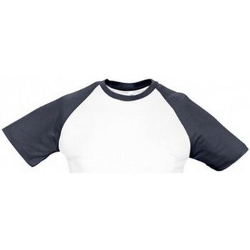 vaatteet Miehet Lyhythihainen t-paita Sols 11190 White/Navy