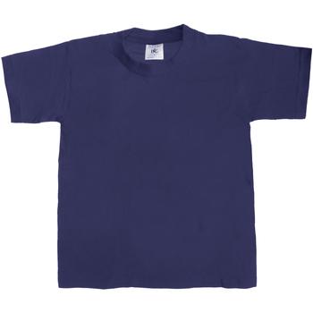 vaatteet Lapset Lyhythihainen t-paita B And C TK301 Navy Blue