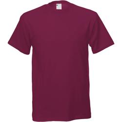 vaatteet Miehet Lyhythihainen t-paita Universal Textiles 61082 Oxblood