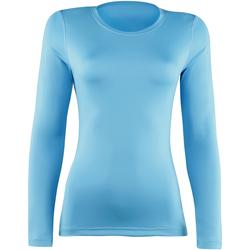 vaatteet Naiset T-paidat pitkillä hihoilla Rhino RH003 Light Blue