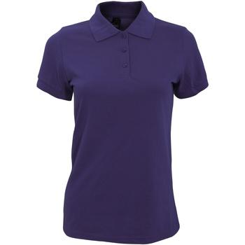 vaatteet Naiset Lyhythihainen poolopaita Sols 10573 Dark Purple