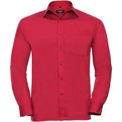 vaatteet Miehet Pitkähihainen paitapusero Russell 934M Classic Red