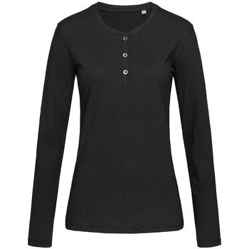vaatteet Naiset T-paidat pitkillä hihoilla Stedman Stars  Black Opal