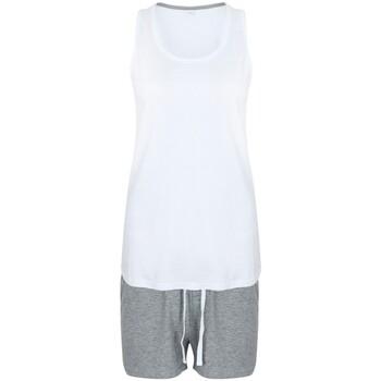 vaatteet Naiset pyjamat / yöpaidat Towel City TC052 White/Heather Grey