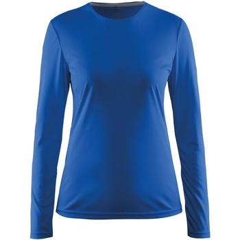 vaatteet Naiset T-paidat pitkillä hihoilla Craft CT89F Swedish Blue