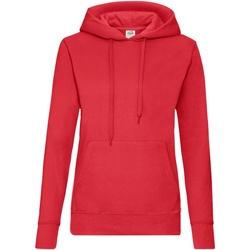 vaatteet Naiset Svetari Fruit Of The Loom 62038 Red