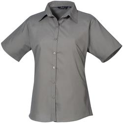 vaatteet Naiset Paitapusero / Kauluspaita Premier PR302 Dark Grey