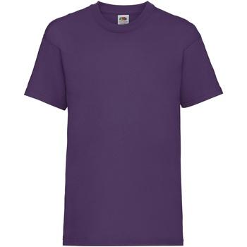 vaatteet Lapset Lyhythihainen t-paita Fruit Of The Loom 61033 Purple