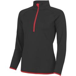 vaatteet Naiset Ulkoilutakki Awdis JC036 Jet Black/ Fire Red