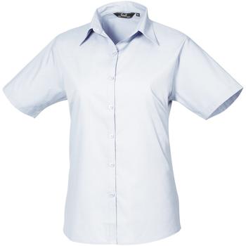 vaatteet Naiset Paitapusero / Kauluspaita Premier PR302 Light Blue
