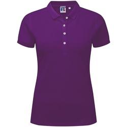 vaatteet Naiset Lyhythihainen poolopaita Russell 566F Ultra Purple