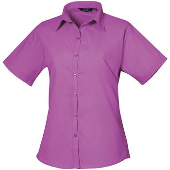 vaatteet Naiset Paitapusero / Kauluspaita Premier PR302 Hot Pink