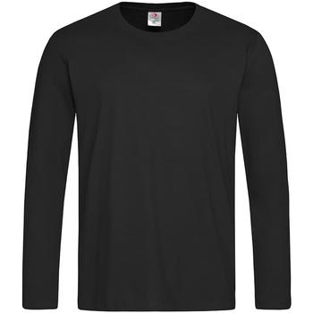 vaatteet Miehet T-paidat pitkillä hihoilla Stedman  Black Opal