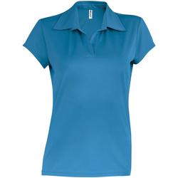 vaatteet Naiset Lyhythihainen poolopaita Kariban Proact PA483 Aqua Blue