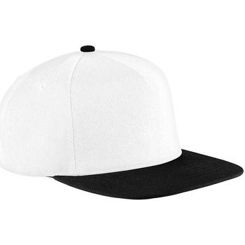 Asusteet / tarvikkeet Lippalakit Beechfield B660 White/Black