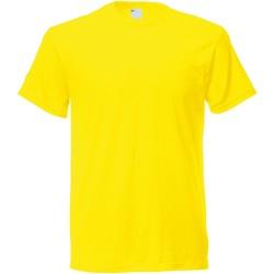 vaatteet Miehet Lyhythihainen t-paita Universal Textiles 61082 Bright Yellow