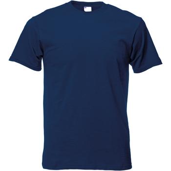 vaatteet Miehet Lyhythihainen t-paita Universal Textiles 61082 Navy Blue