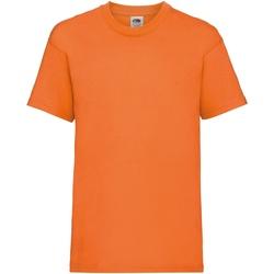 vaatteet Lapset Lyhythihainen t-paita Fruit Of The Loom 61033 Orange