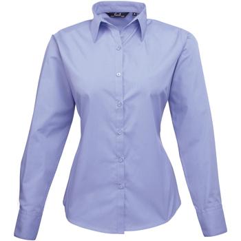 vaatteet Naiset Paitapusero / Kauluspaita Premier PR300 Mid blue